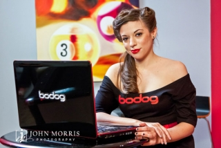 Poker star Amanda Musumeci poses for the camera during a commercial lifestyle photo shoot.