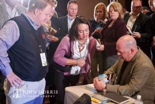 Rick Harrison book signing for crowd of event participants