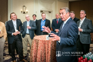 House Speaker John Boehner addressing a small group of business professionals during a meet and greet