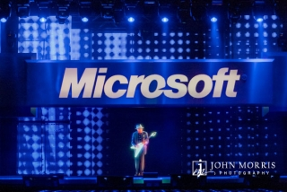 Hologram of BB King performing on stage during a Keynote for Microsoft Corporate Event