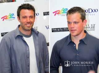 Red Carpet shots of Ben Affleck and Matt Damon during opening ceremonies at the World Series of Poker in Las Vegas