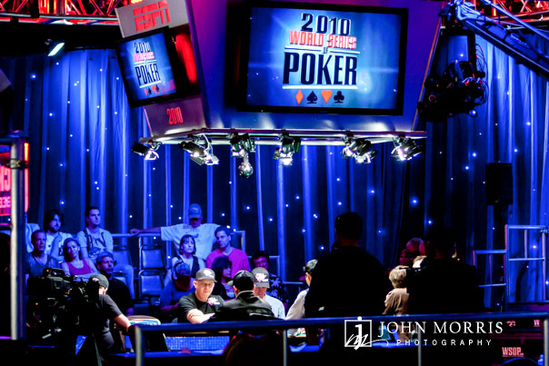 Event Photography & Poker players concentrating during the World Series of Poker in Las Vegas