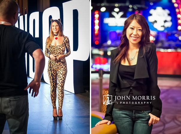Individual, On Location portraits of Tatjana Pasalic and Jay Tan at the World Series of Poker in Las Vegas