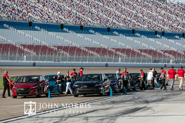 Attendees enjoying rides on the race track during a corporate event and corporate outing at the Las Vegas Motor Speedway in Las Vegas as photographed by a San Diego Event Photographer