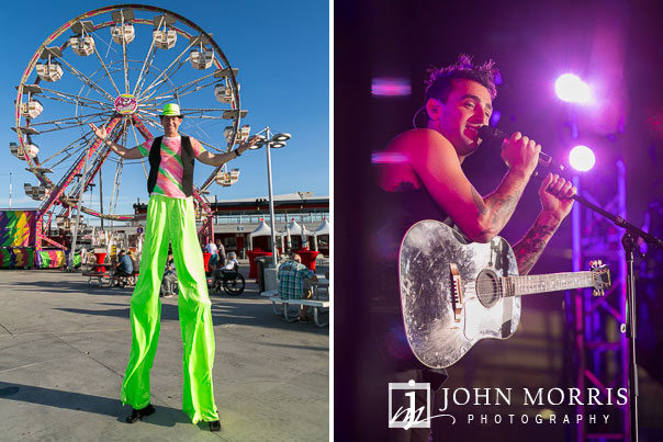 Entertainers during a carnival and on stage musical venue at the Las Vegas Motor Speedway in Las Vegas as photographed by a San Diego Event Photographer