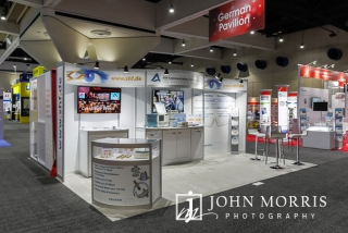 Booth photographed before the opening of the Exhibit hall by Professional Booth and Exhibit Photographer at the San Diego Convention Center