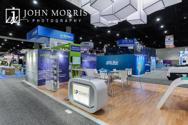 Booth photographed before the opening of the Exhibit hall at the San Diego Convention Center
