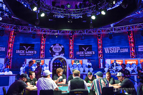Main ESPN Table at the World Series of Poker Event at the Rio Hotel & Casino