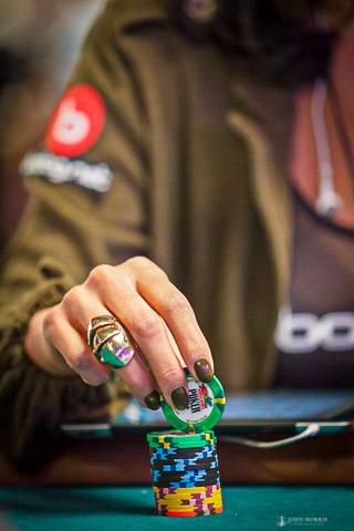 Female Poker Player for Bodog at World Series of Poker Las Vegas