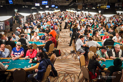 Full Conference Center Day One of the World Series of Poker