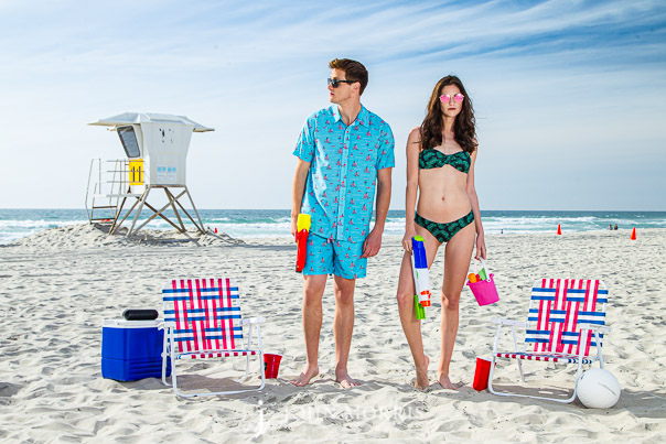 Beach Fashion Fun swimsuits and leisure suits