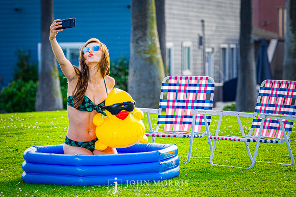 Swimsuit Fashion Photography Fun with a rubber duck