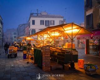 Venice, Italy morning vendor cart