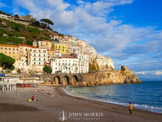 Amalfi Coast Beach and Seaside Village