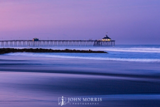Imperial Beach Pier Sunrise Purple